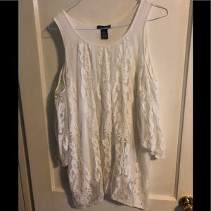 White lace tunic top.